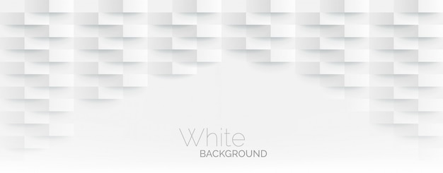 Futuristic white paper corners mosaic white background. realistic geometric mesh rectangle texture. abstract white  wallpaper with hexagon grid