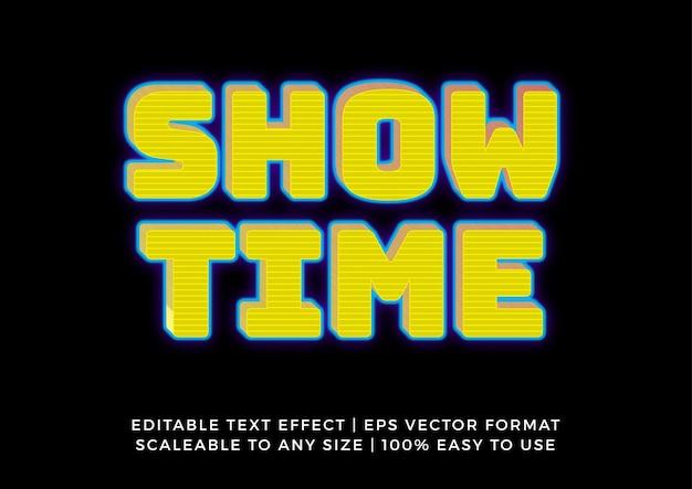 Футуристический желтый 3d графический эффект текста заголовка