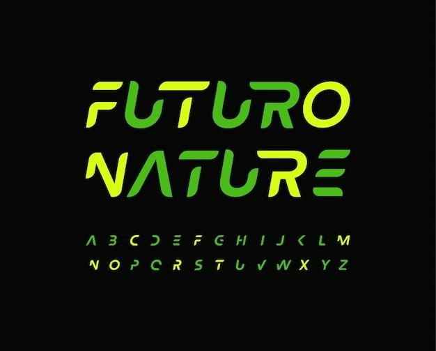 Futuro алфавит письмо шрифт современные технологии логотип типография минимальный футуризм вектор типографский