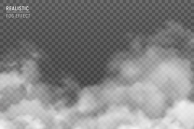 Fuzzy stratus clouds with fog effect realistic image against light gray hazy smog background transparent