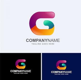 G абстрактное письмо логотип