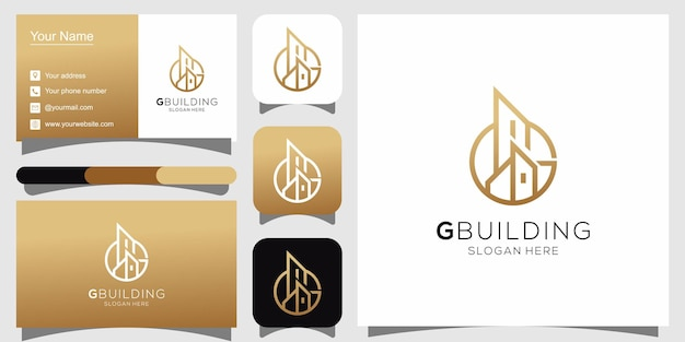 G building logo and business card