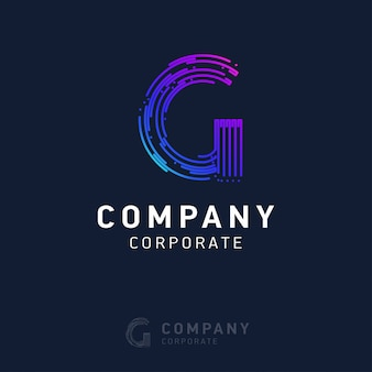 G company logo design with visiting card vector