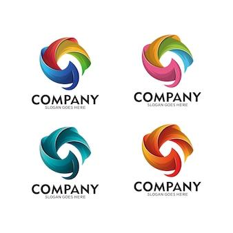 Буква g современный логотип. красочный начальный дизайн логотипа g. бизнес символ логотип