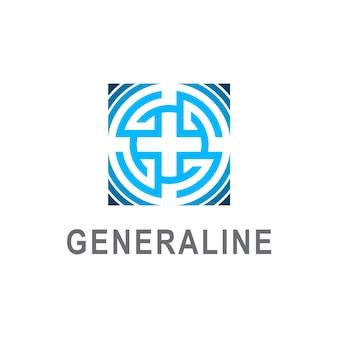 抽象的な文字gのロゴデザイン、文字gの正方形