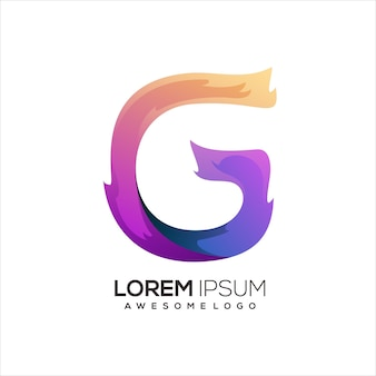 G letter initial logo gradient colorful abstract