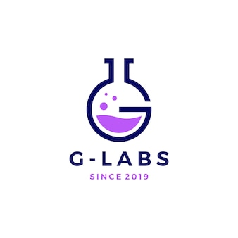 G letter labs logo vector icon illustration