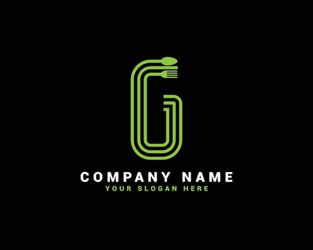 Gレターロゴ、gフードレターロゴ、gスプーンレターロゴ