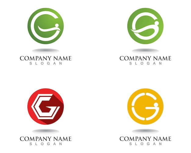 G letters logo and symbols template icons