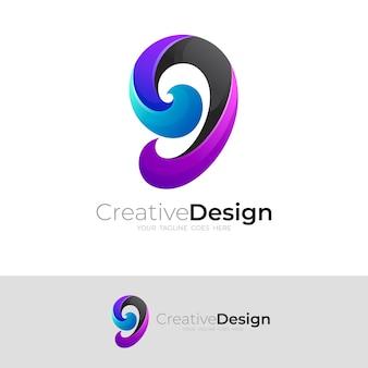 Gロゴカラフルなデザイン、モダンなデザインテンプレート