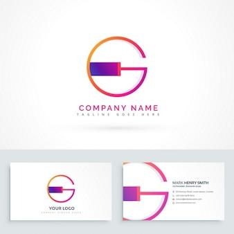 文字gとの抽象的なロゴ