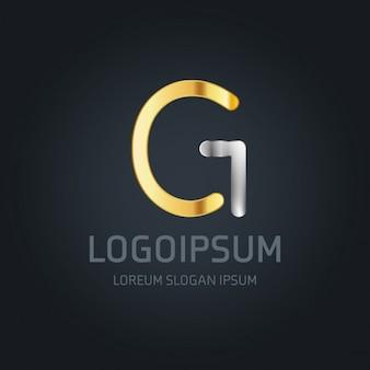 G логотип золото и серебро