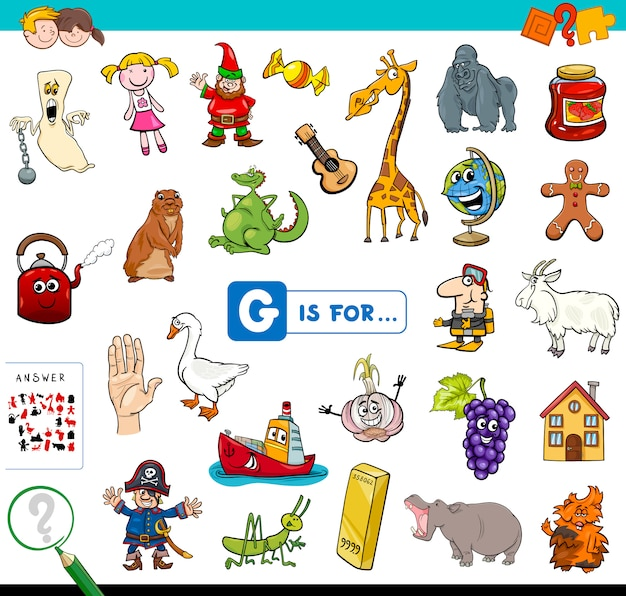 Gは子供向け教育ゲーム用です