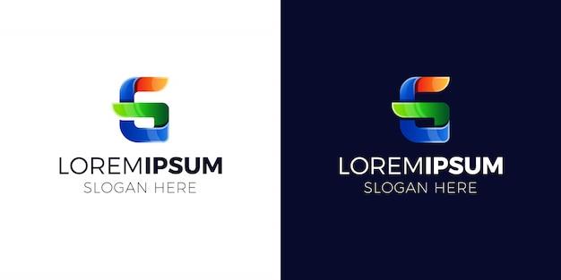 グラデーションスタイルの文字gロゴ。