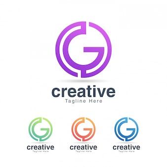 Буква g логотип для сми и развлечений
