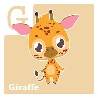Gのアルファベットカード