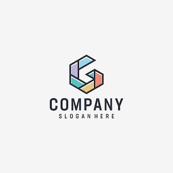 Вдохновенный g буква современный дизайн логотипа