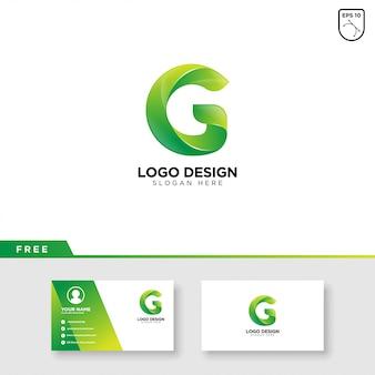 グラデーションカラーの文字gの創造的なロゴ