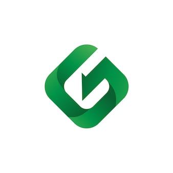 文字gロゴベクトル