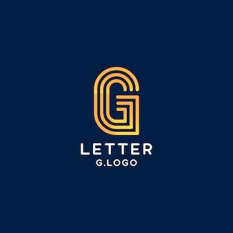 Элегантная и креативная линия буква g логотип начальный вектор знак