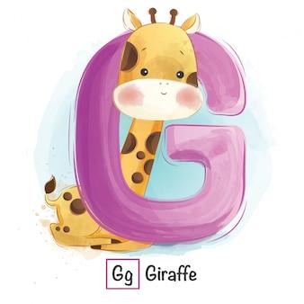 Алфавит животное - g