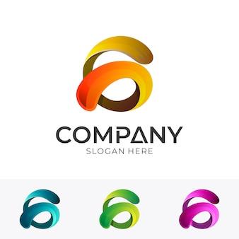 抽象文字gビジネスロゴデザイン