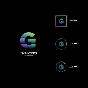Буквы g логотип значок дизайн шаблона элементы