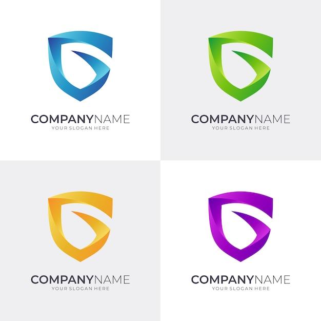 Щит буква g логотип