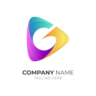 メディア再生+文字gロゴのコンセプト