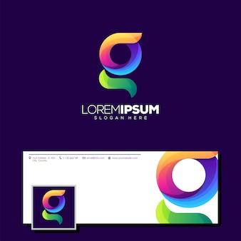 Буква g дизайн логотипа готов к использованию