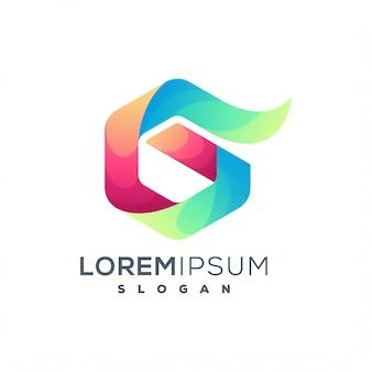 Красочный логотип g