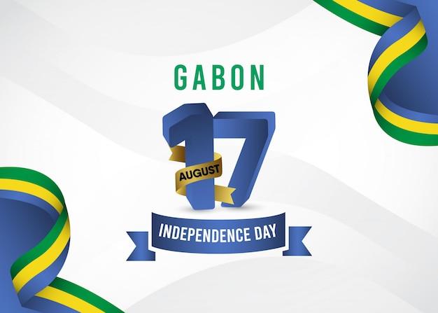 ガボンの独立記念日のテンプレート。
