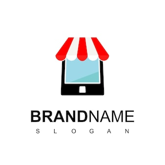 Gadget with store symbol for online shop logo