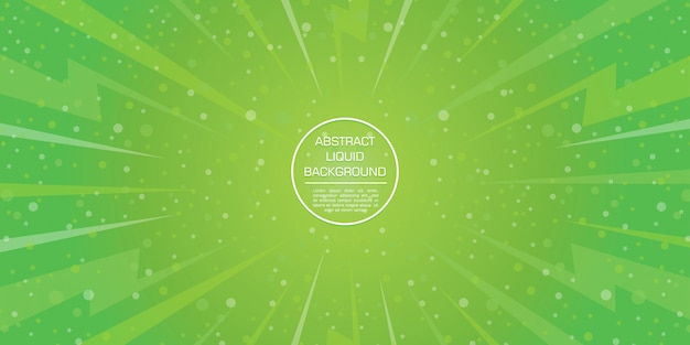 星とボケ味の抽象的な緑gadient動的図形の背景