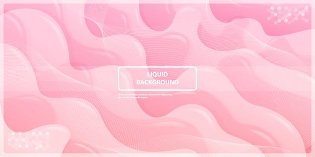 ピンクのバナーの背景を持つ抽象的な液体gadientライン
