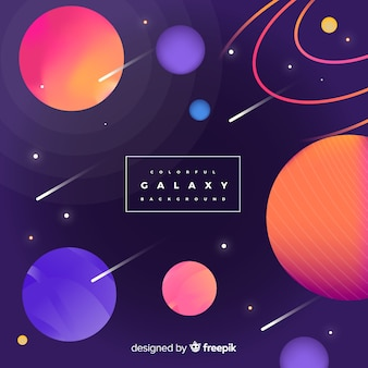 Galaxy background concept