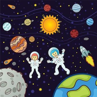 Galaxy background design