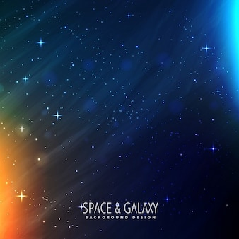 Galaxy background with blue and red lights