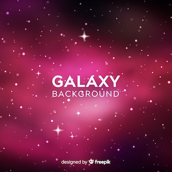 Galaxy background with colorful style
