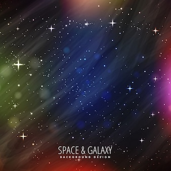 Galaxy background with full color lights