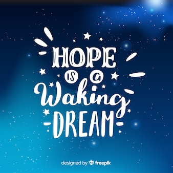 Galaxy background with quote concept