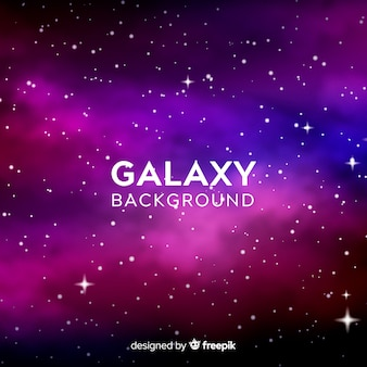 Galaxy background with stars