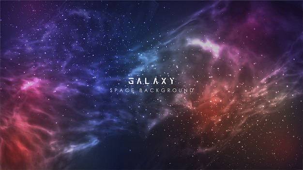 Galaxy gradient abstract space sky background