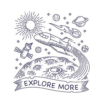 Galaxy line illustration