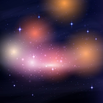 Galaxy night sky