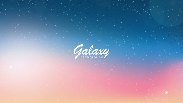Galaxy pink and blue background