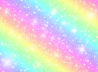Galaxy rainbow fantasy background and pastel color