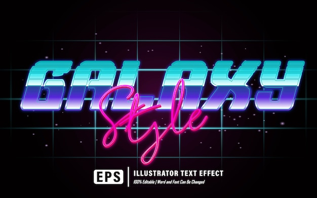 Текстовый эффект в стиле галактики - редактируемый