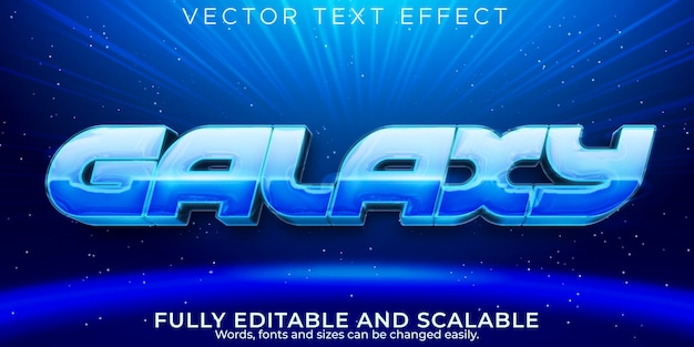 Galaxy text effect, editable space and retro text style