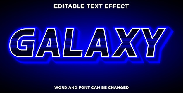 Galaxy text effect style